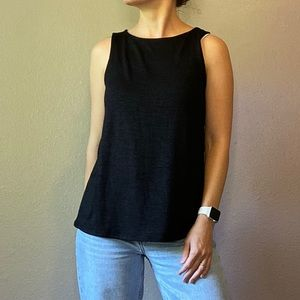 Banana Republic Black Sleeveless Blouse, Small